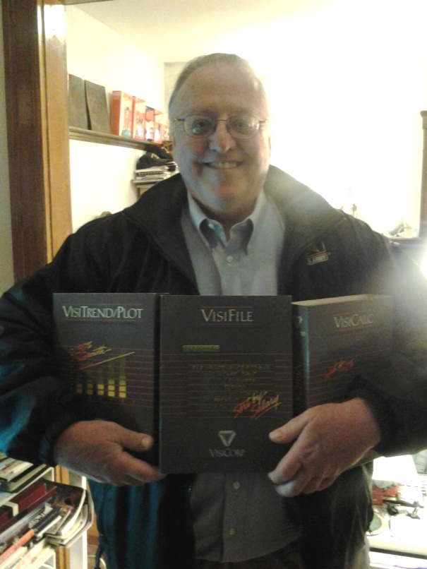 Bob Erickson, proudly donated a complete, pristine set of VisiCorp software.