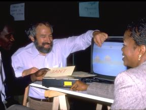 Seymour Papert & Senegalese Colleagues (photo by Robert Mohl, ©~1982)