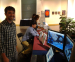 Nick Potvin with Immersion Exhibit